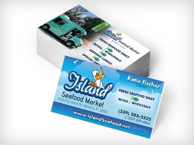 Island Seafood – Business Cards