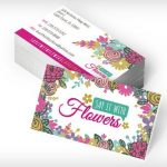 say it with flowers business cards