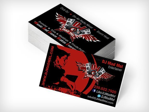 DJ Mad Mel – Business Cards