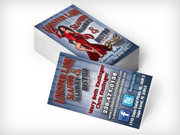 LobsterLady- Biz Cards
