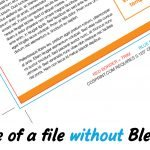Example of flyer without bleed