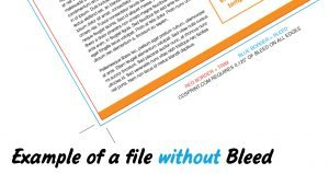 printing flyer without bleed