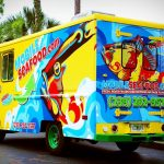 Mobile Seafood vehicle wrap food truck