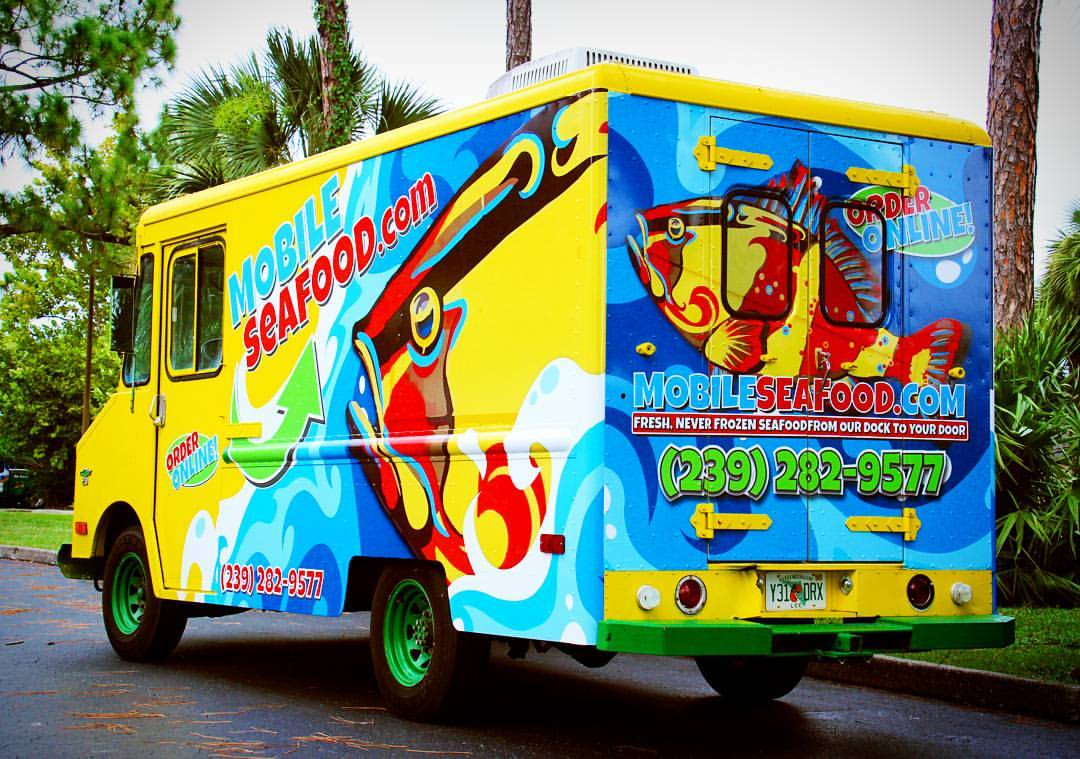 Mobile Seafood Food Truck – Vehicle Wrap
