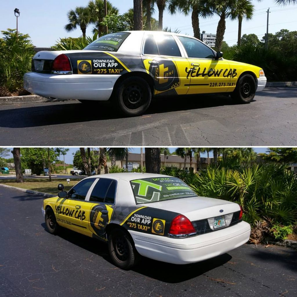 275-Taxi company car wrap