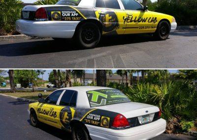 275-Taxi company car wrap