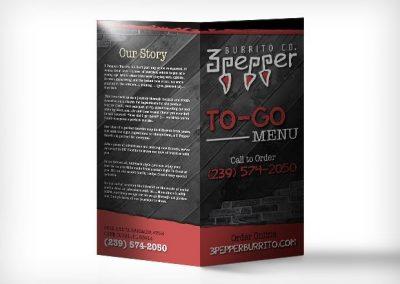 3 Pepper burrito menu