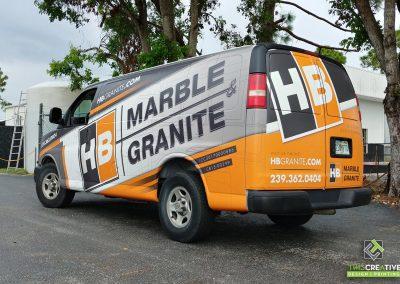 This Creative HB Marble & Granite Van Wrap