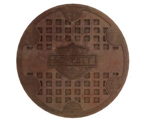 Realistic Manhole Cover Graphic Design