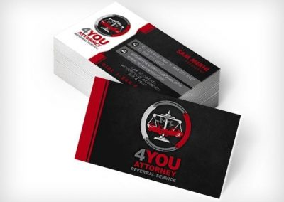 This Creative 4YOU Attorney Referral Business Cards