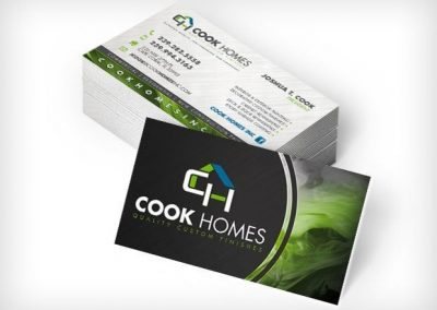 This Creative Cook Homes Business Cards
