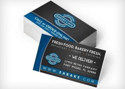 This Creative European American Bakery Business Cards