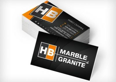 This Creative HB Marble Business Cards