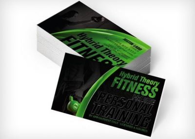 This Creative Hybrid Theory Fitness Business Cards