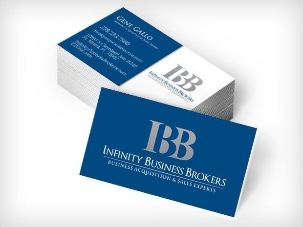 This Creative Infinity Business Brokers Business Cards