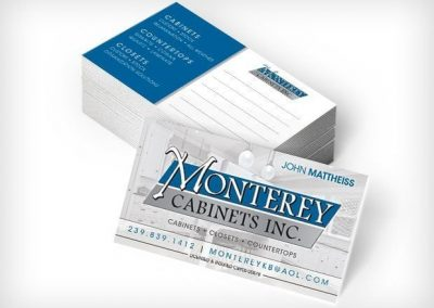 This Creative Monterey Cabinets Business Cards