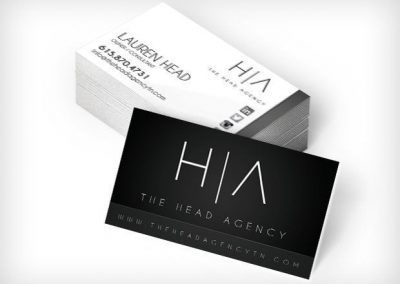 This Creative The Head Agency Business Cards