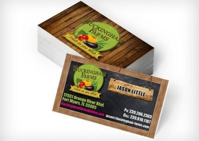 This Creative Buckingham Farms Business Cards