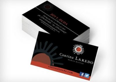 This Creative Cantina Laredo Business Cards