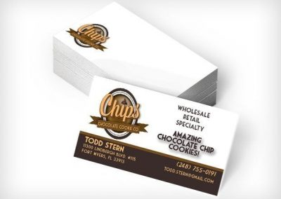 This Creative Chips Chocolate Cookie Co Business Cards