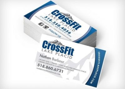 This Creative Crossfit Lake Placid Business Cards