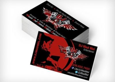 DJ Mad Mel This Creative Business Cards