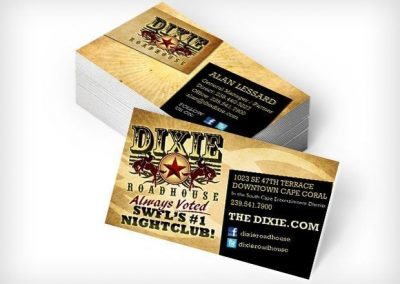 This Creative Dixie Roadhouse Business Cards