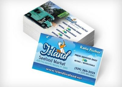 This Creative Island Seafood Business Card