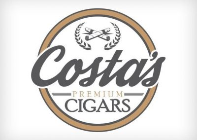 Costa's Cigars Logo Design This Creative