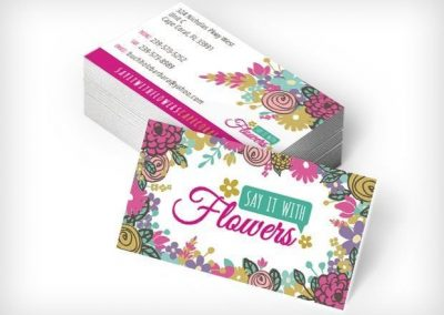 This Creative Say It With Flowers Business Cards