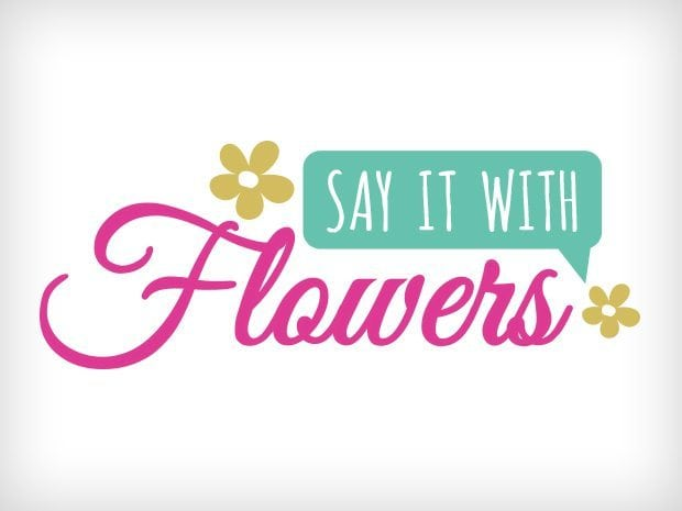 Say It With Flowers Logo Design This Creative