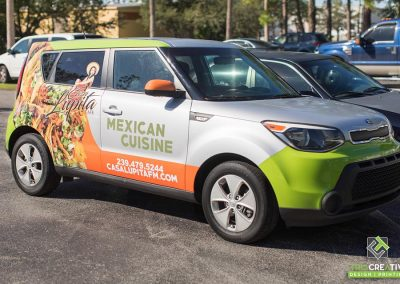 This Creative Casa Lupita Cafe Vehicle Wrap