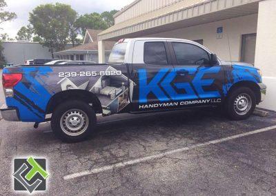 This Creative KGE Handy Man Truck Wrap
