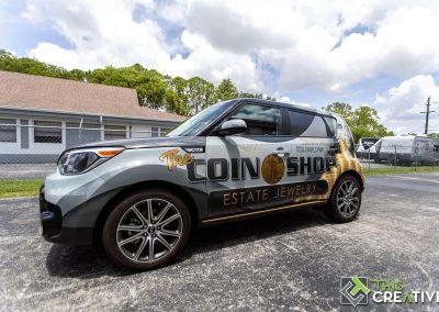 This Creative Coin Shop Vehicle Wrap