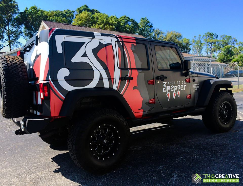 This Creative 3 Pepper Jeep Wrangler Wrap
